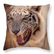 Textured Tiger Throw Pillow