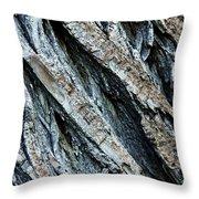Textured Tree Bark Throw Pillow
