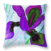 Textured Wild Purple Iris Throw Pillow