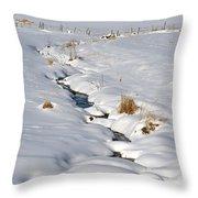Textured Winter Blues Throw Pillow
