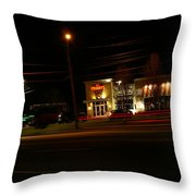 Tgi Fridays Car Lights Glow Throw Pillow