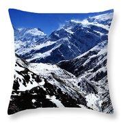 The Annapurna Circuit - The Himalayas Throw Pillow