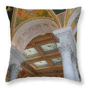 Great Hall Of The Library Of Congress Throw Pillow