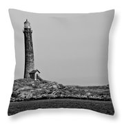 Thacher Island's North Tower Lighthouse Throw Pillow