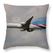 Thai Airways A340 Airbus Throw Pillow