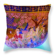 Thai Design Ceramics Throw Pillow