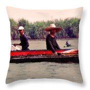 Thai Fisherman Throw Pillow
