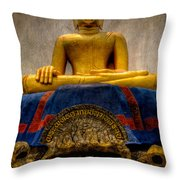 Thai Golden Buddha Throw Pillow