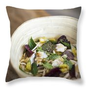 Thai Jungle Curry Fish Soup Throw Pillow
