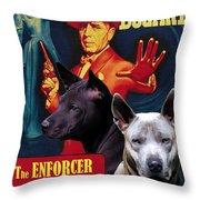 Thai Ridgeback Art Canvas Print - The Enforcer Movie Poster Throw Pillow