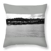 Thai Village Throw Pillow