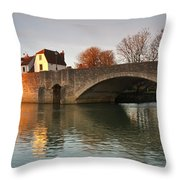Thames In Abingdon Throw Pillow