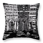 Thames In Winter Throw Pillow