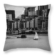 Thames Sailing Throw Pillow