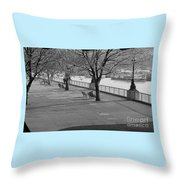 Thames Walkway Throw Pillow
