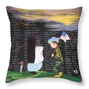 Thank You Again Hand Embroidery Throw Pillow