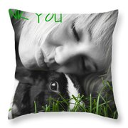 Thank You Bunny-card Throw Pillow