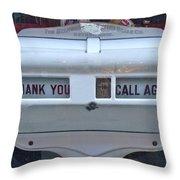 Thank-you Call Again Throw Pillow