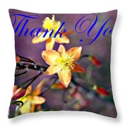 Thank You Card Throw Pillow