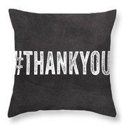 Thank You- Greeting Card Throw Pillow