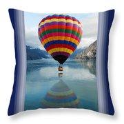 Thank You Hot Air Balloon In Alaska Throw Pillow