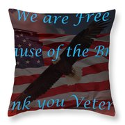 Thank You Veterans Throw Pillow