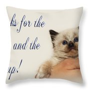 Thanks For The Rescue And The Hand Up Throw Pillow by Andee Design