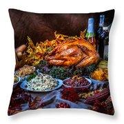 Thanksgiving Dinner Throw Pillow