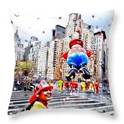Thanksgiving Parade Throw Pillow