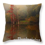 Thanksgiving Reflections Throw Pillow
