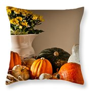 Thanksgiving Still Life Throw Pillow