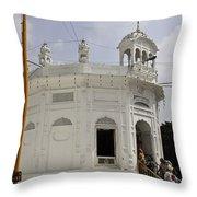 Thara Sahib Inside The Golden Temple Throw Pillow
