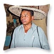 Tharu Chitwan National Park Naturalist In Tharu Village In Nepal  Throw Pillow