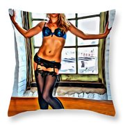 That Beauty In The Window Throw Pillow
