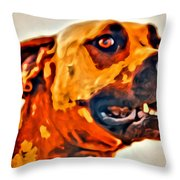 That Doggone Face Throw Pillow