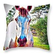 That Horses Face Throw Pillow