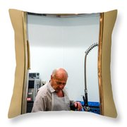 That Man In The Window Again Throw Pillow