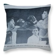 That Me Fighting Erving Nard In 1954 Throw Pillow