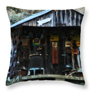 That Old Shack Throw Pillow