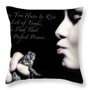 That One Perfect Prince Throw Pillow