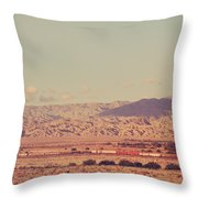 That Side Of The Tracks Throw Pillow