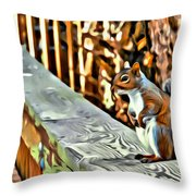 That Squirrel Throw Pillow
