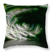 That Stooped Down Unto The Sea Throw Pillow