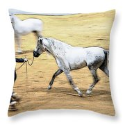 That Trot Off Throw Pillow
