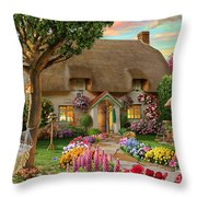 Thatched Cottage Throw Pillow