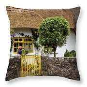 Thatched Cottage House Throw Pillow