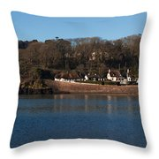Thatched Cottages In A Town, Dunmore Throw Pillow