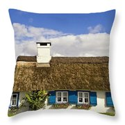 Thatched Country House Throw Pillow