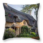Thatched Roof - Cotswolds Throw Pillow