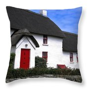 Thatched Roof House Throw Pillow